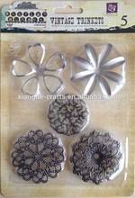 Flourish Trinket Different Shape Metal Flower Assorted