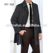 2015 hot sale winter mens wool coat gray