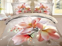 2015 china suppliers big flower 3d comforter set modern quilts
