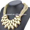 Gioielli in oro dubai nuovo modello, opaco oro spianare catena collana link