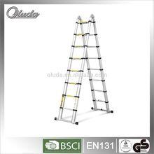 Multi-Purpose Folding Telescopic Aluminium A Frame Shape Ladder