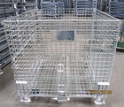 Warehouse Steel Wire Box Container Storage Cage