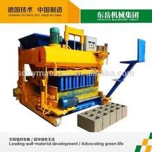 QTM6-25 cement mobile egg laying concrete hollow block maker