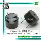 cheaper 1.5v 75DB 12mm mechnical transducerFBMB1275A1