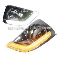 For Toyota Vios LED Daytime Running Light Fog Light 2014 year Chrome Housing