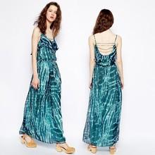 2015 new fashion women dresses wholesale maxi dresses in tie dye