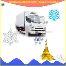 China van refrigeration units supplier for Iveco yuejin C100 NJ1041ZFDCMZ 4*2 4tons freezer truck sale