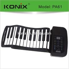 61 keys Digital Piano keyboard music instrument of usb roll up piano