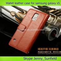 slim fit flip wallet leather case for samsung s5,for samsung s5 case leather wallet, for samsung galaxy s5 case wallet leather