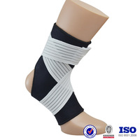 custom made China manufacturer elastic sports football fitness neoprene waterproof spandex adjustable compression ankle support