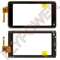 100% Original for Nokia N8 Touch Screen Digitizer with Frame black and silver