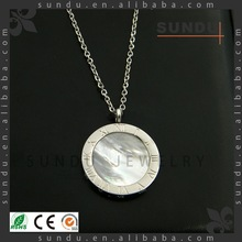 2015 Latest Wholesale shell 18k Gold Pendant Necklace,stainless steel pendant,silver pendant