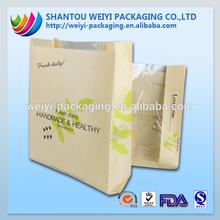 laminated printing qual sealed wax coated paper bag food
