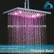 JFQ045CP hydro power led shower head,led shower lighting,big rain shower head