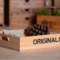 Zakka artesanal de madeira de paletes de madeira do natal caixa de armazenamento de fábrica direta ornamento caixa de armazenamento mão- feita de madeira de paletes