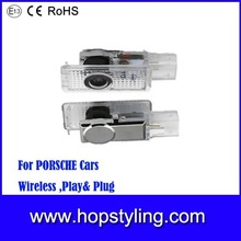 For Porsche LED door welcome light car led door courtesy light with car logo