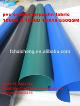 Popular 1000D 18X18 PVC Coated Tarpaulin Fabric