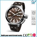 Construya su reloj de la marca fácilmente del deporte del hombre de acero inoxidable reloj resistente al agua 100 metros gran caja