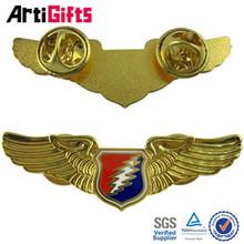 China factory metal 3d pilot wing pin badge