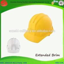 Hot CE standard lightweight mining helmet industrial worker ABS PE safety helmet with extended brim