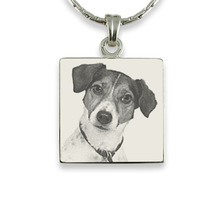 Yiwu Aceon steel photo engraved square pendant for pet