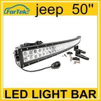 jeep led light bar 288w 50inch curve led light bar truck