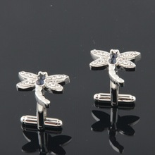 Factory supply mosquito hawk diamond cufflink