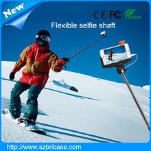 Cheap price Flexible selfie timer handheld Hot monopod for camera with Big phone clip