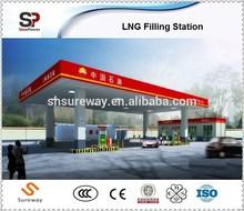 Mobile type LNG filling station/L-CNG filling station/CNG filling station made in China