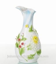 fashion flower ceramic vase for home decor