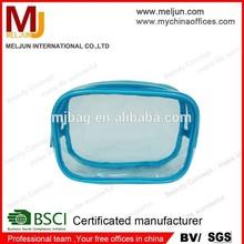 china good quality news design pvc bag, clear pvc bag ot selling clear zippered vinyl pvc cosmetic bag