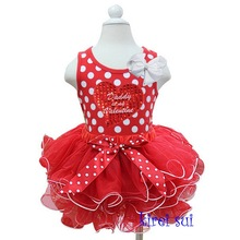 Red White Petal Tutu Plus Daddy is my Valentine Heart Polka Dots Tank Top
