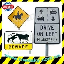 Reflective Rectangle White Aluminum Street Signs Australia