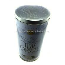 2015 round silver coffee beans tin box manufacturer