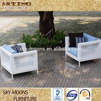 Resin Wicker White Rattan Sofa Chair Good Quality (SF099)