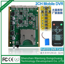 Frame rate: 5 FPS 15 FPS 30 FPS Optional 2-ch Buttons and Remote operation operation 2-channel DVR module