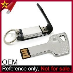 Wholesale custom logo keychain car key shape usb flash key drive