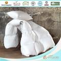 Tela de algodón cubierta de plumas de ganso edredones llena/edredones/edredones para la cama