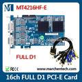 In stock billigsten dahua heißer verkauf h. 264 hardware-komprimierung 16-kanal full d1 pci-e dvr karte mt4216hf-e