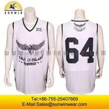 Best quality basketball uniform sample basketball jersey custom basketball tops