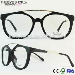 New trend fashionable glasses frame, funny eye glasses frame, Retro fake wood prescription glasses frame M5012