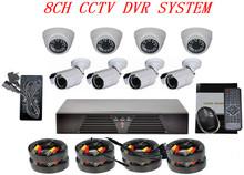 1000tvl Indoor/Outdoor HD H.264 HDMI 8ch complete cctv system
