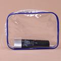 a prueba de agua de pvc transparente de viaje personalizado palo de plástico bolsa
