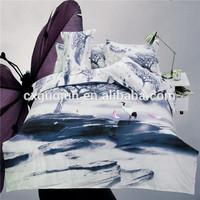 Wholesale printed bedding,cheap/modern/fashion bed sheet set/bed linen/bedding set 3d 100% polyester