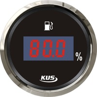 LED Display 52mm Digital fuel level gauge meter for Auto Car Truck
