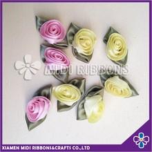 1cm Polyester Ribbon Rosette for Children Dress
