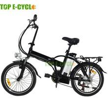"Top e-cycle 20"" mini folding charging electric bike cheap for sale"