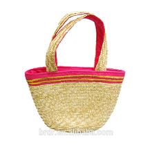 2015 Cheap Price Glittery Golden Girls Tote Straw Bag