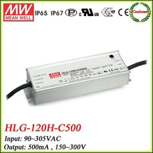 Meanwell HLG-120H-C500 dimmable 500mA 150w led driver