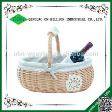 Wholesale arts and crafts valentine wicker empty gift basket